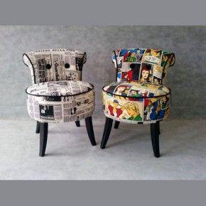 Sillas con original tapizado muebles originales handcraft fornitures sill n antiguo - Sillones tapizados modernos ...