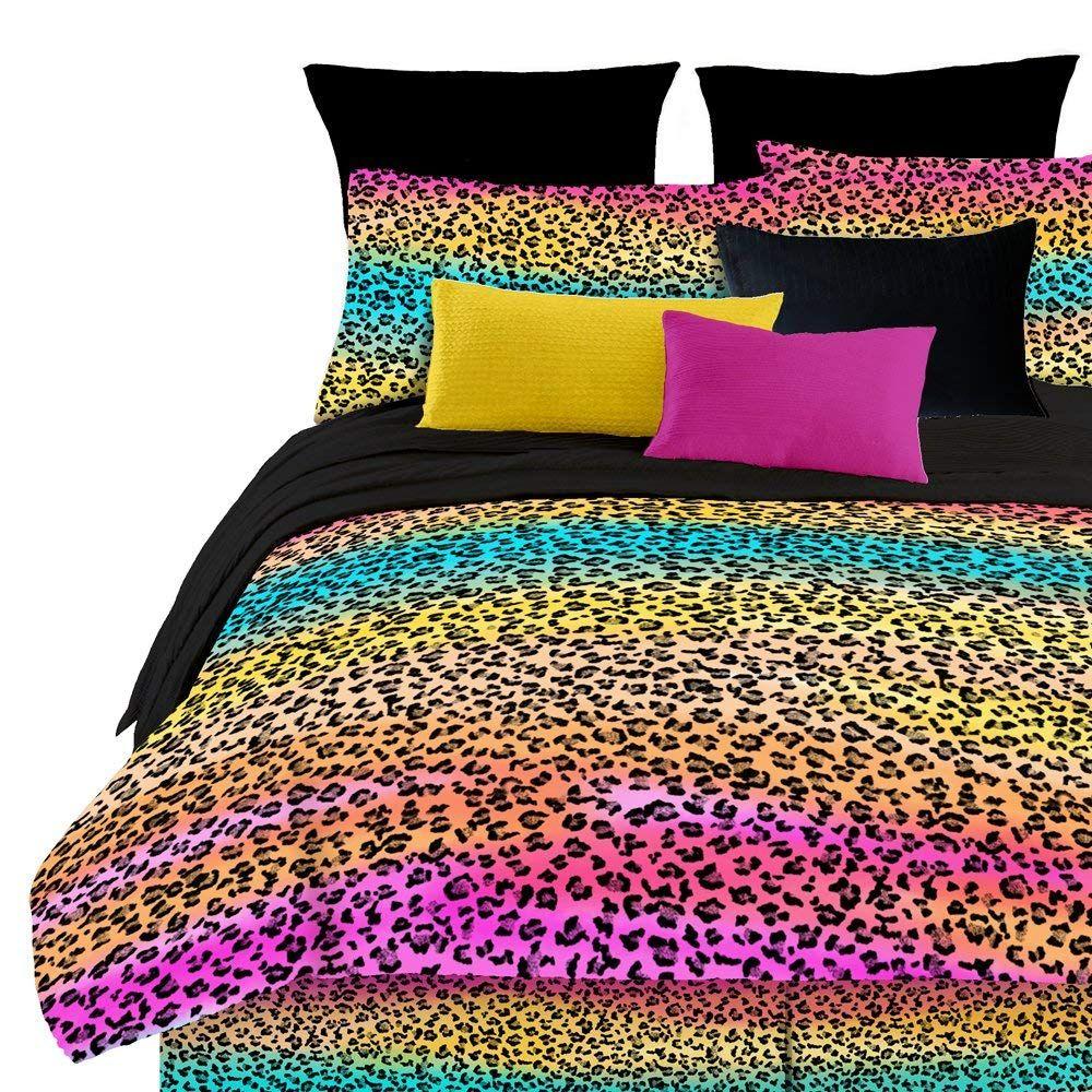 Veratex Street Revival 100 Polyester 4 Piece Kids Rainbow Leopard