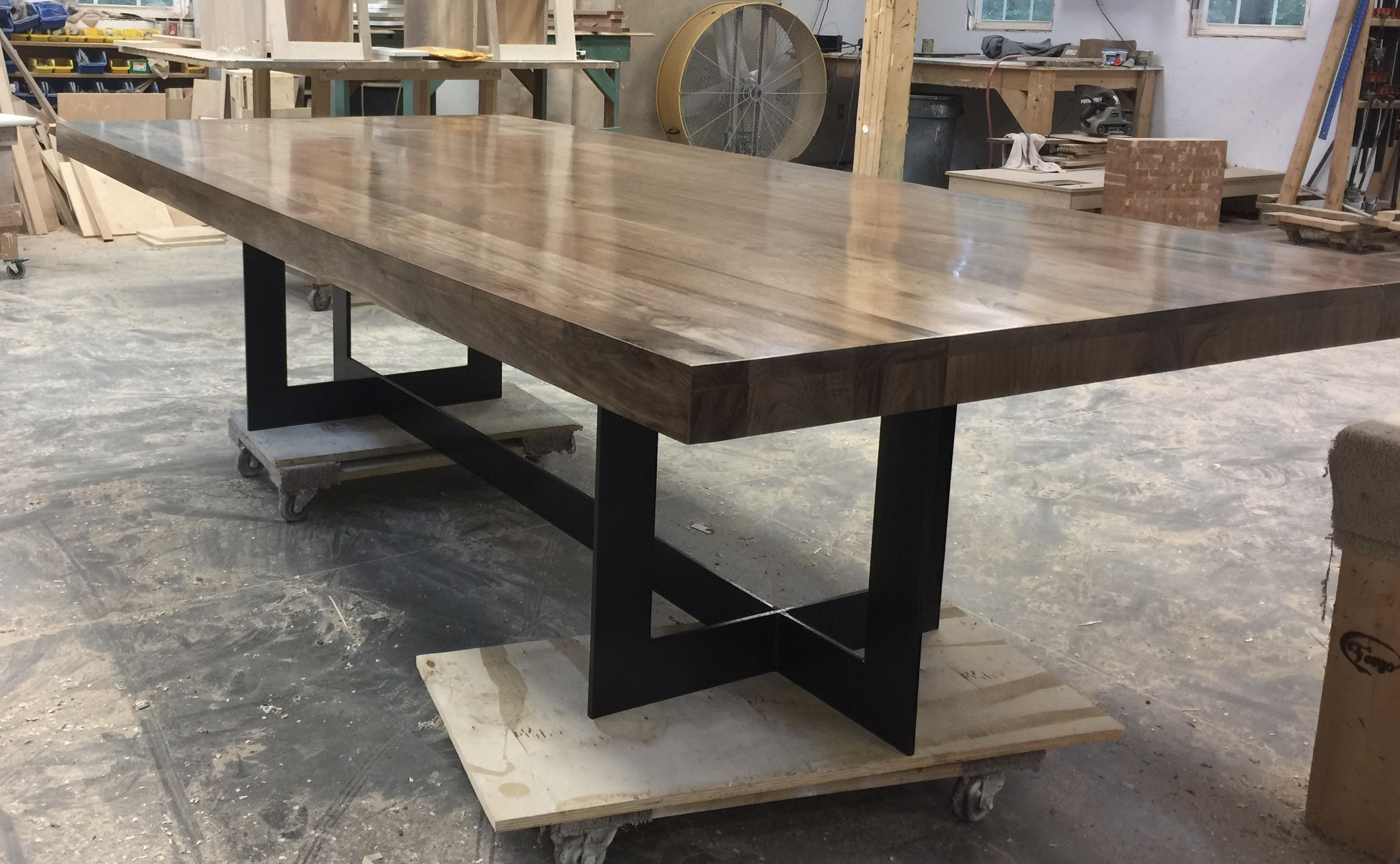 Walnut Top And Bronze Metal Base Call Pepper Co At 980 Custom Dining Tableswalnut Tablecharlotte Ncfurniture