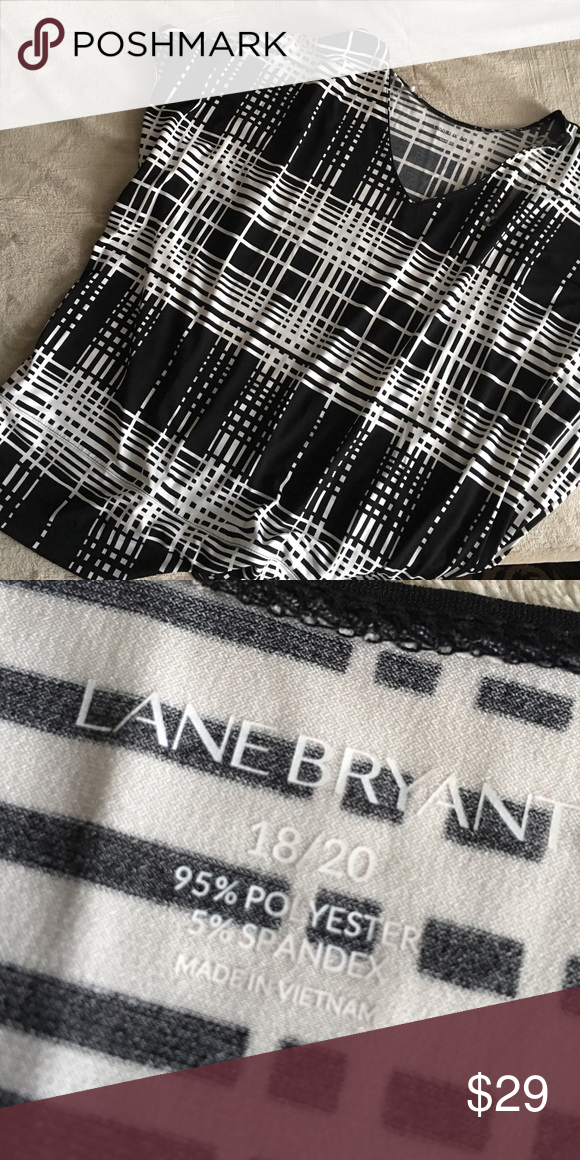 Lane Bryant black and white blouse Excellent condition Lane Bryant Tops Blouses