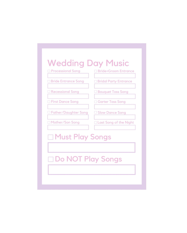 Wedding Planner Organizer Dj Questionnaire Ceremony Song List Template Instant Download 8 Wedding Song List Wedding Dj Checklist Wedding Ceremony Playlist