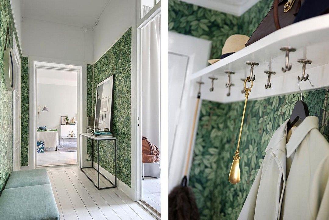 des couleurs rafra chissantes entr e couloir pinterest hall couleur et papier peint. Black Bedroom Furniture Sets. Home Design Ideas
