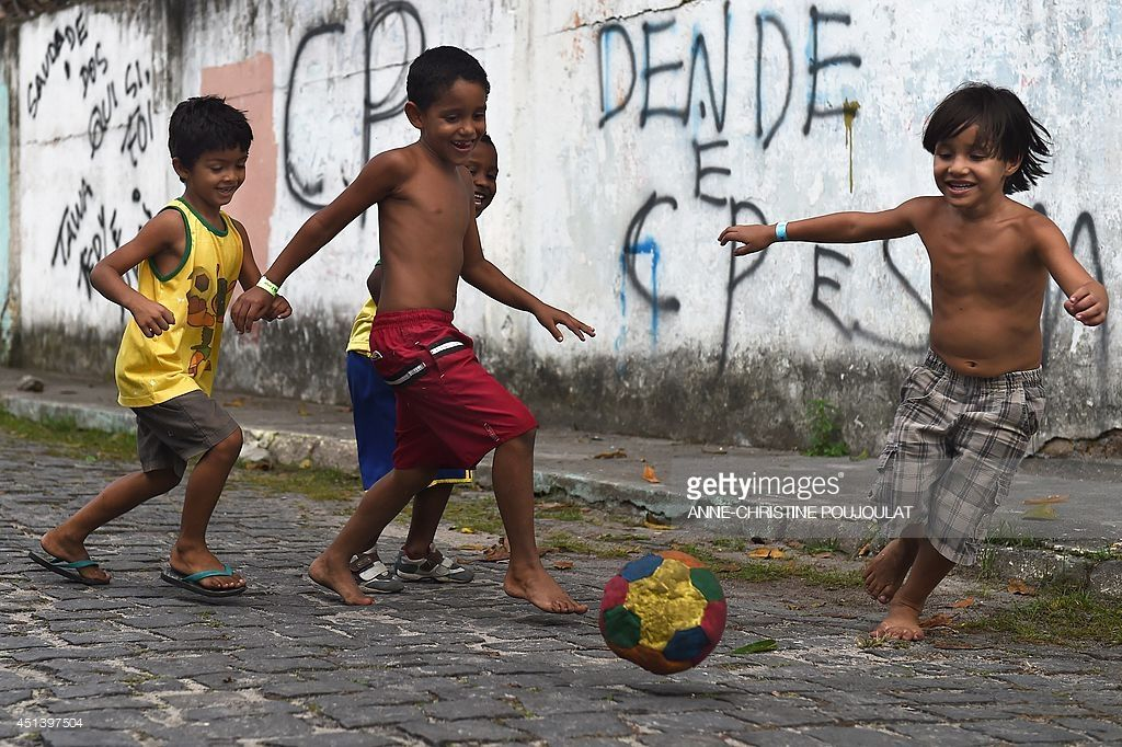 Image result for image of brazilian children playing football ...