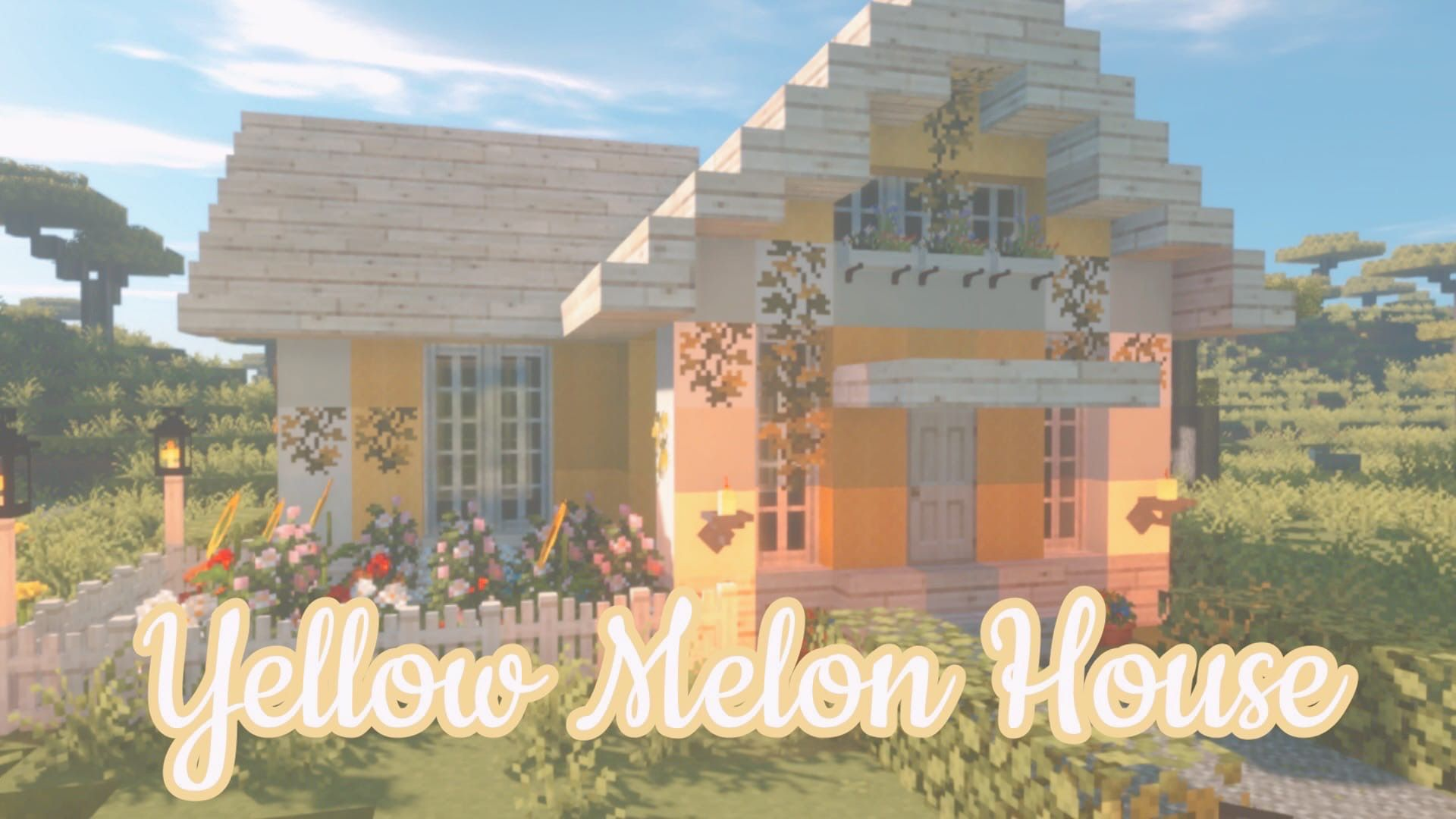Cute Yellow Melon House How To Build Cute House In Minecraft In 2020 Cute Minecraft Houses Minecraft House Designs Minecraft Designs