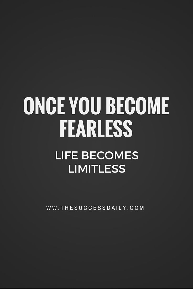 I Am Fearless Quote Motivation Inspiration Success