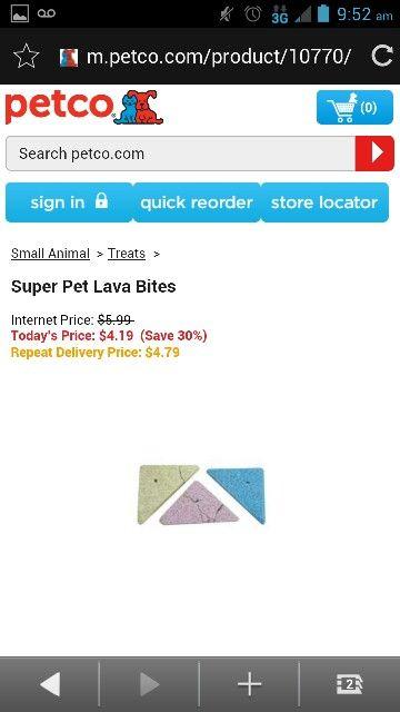 Super Pet Lava Bites Reptile Food Zoo Med