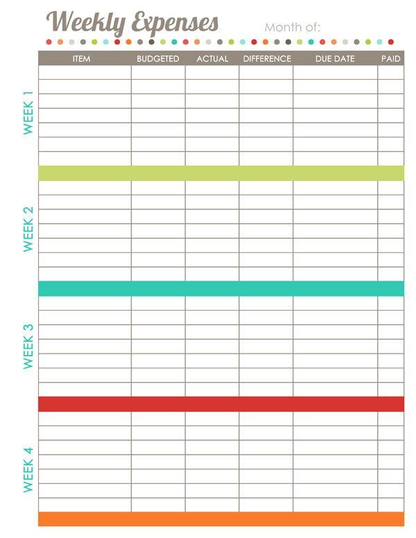 Home Finance Printables The Harmonized House Project Monthly