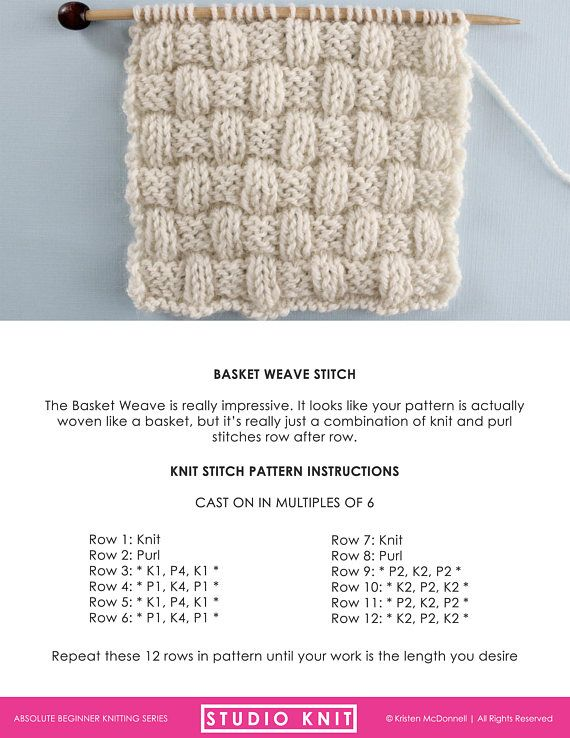 Knit Stitch Pattern Book for Absolute Beginning Knitters PDF | Craft ...