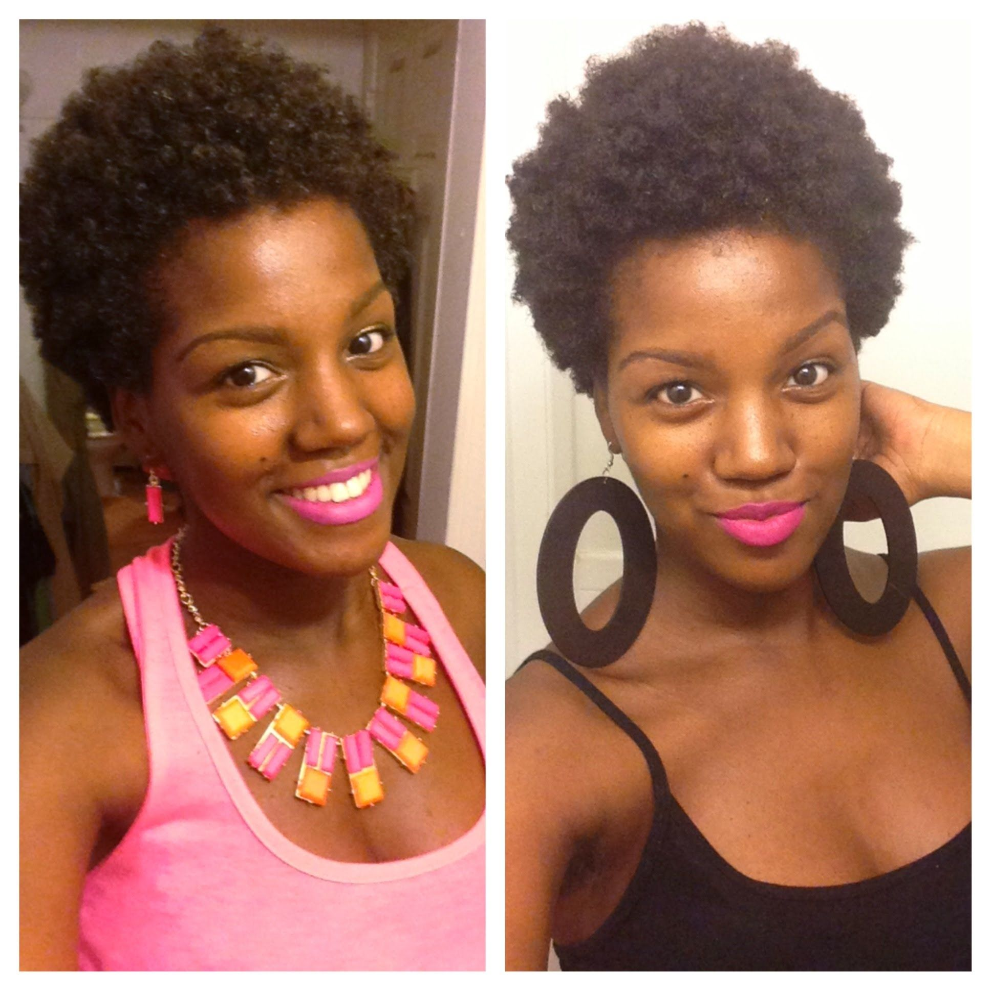 natural short twist out on 4c hair follow my hair and