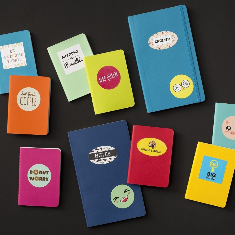 Add some fun to school notebooks, textbooks, daily planners and ...