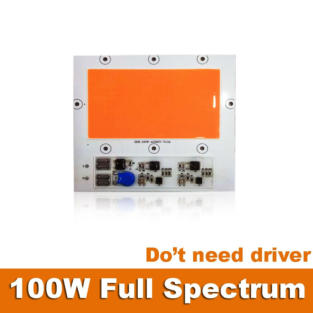 Lot 1 2 5 10pcs Driver Free 100w Full Spectrum Grow Led Light Lamps For Indoor Plants 400nm 840nm 220v Ip65 Affiliate