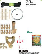 Hanging Kit Picture Photo Painting Plaque Art Level Tool Wire Nails Hooks Hanger Picture Photo Blister Packaging Kit