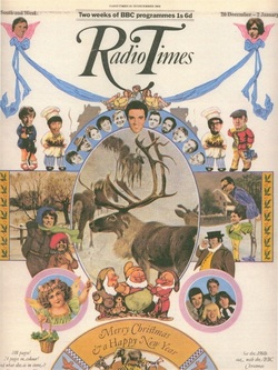 CHRISTMAS RADIO TIMES COVERS FROM 1969 20 December 1969