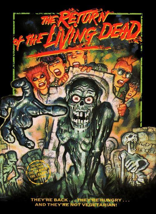 Return Of The Living Dead Horror Horror Art Horror Movie Art