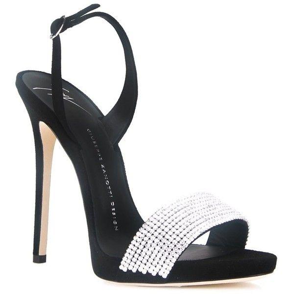 Giuseppe Zanotti Design Sophie Crystal Sandals 675 Via Polyvore Featuring Shoes Sandals Black Ankle Strap S Crystal Sandals Giuseppe Zanotti Heels Heels