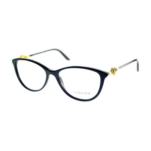 5517fc2033d Versace VE 3175 5064 Eggplant Eyeglasses ( 200) ❤ liked on Polyvore  featuring accessories