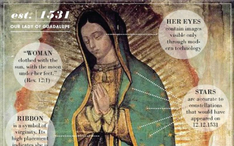 The miraculous image of our Lady of Guadalupe explained in one infographic
