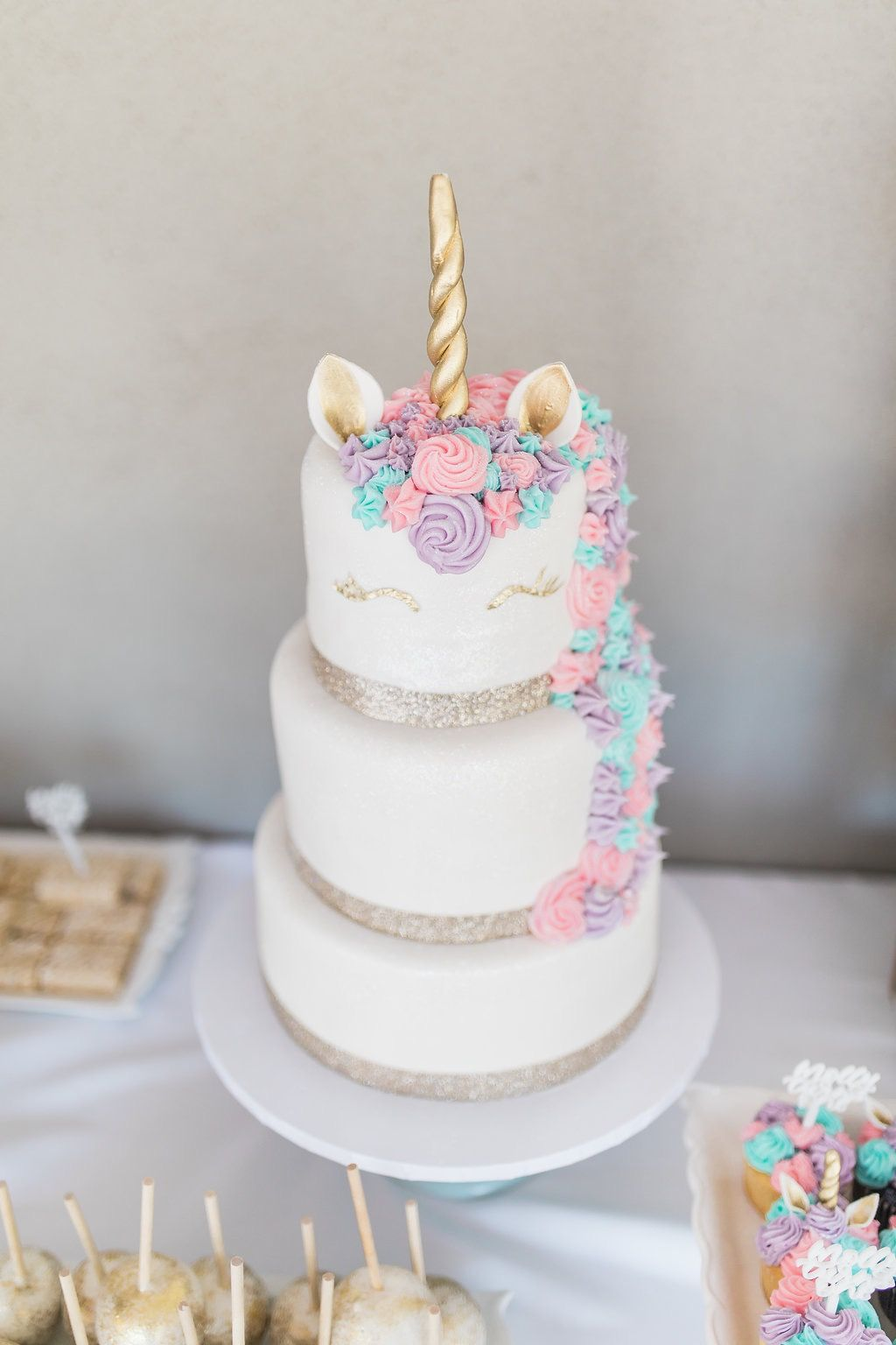Baby S 1st Birthday Unicorn Birthday Baby Girl Birthday Cake
