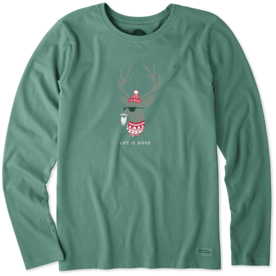 Women's Funky Reindeer Long Sleeve Crusher Tee #funkyreindeer Women's Funky Reindeer Long Sleeve Crusher Tee #funkyreindeer