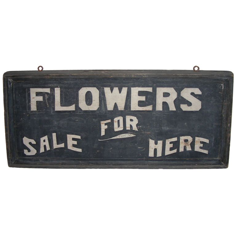Flowers For Sale Here Sign