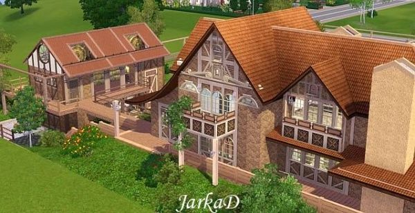 Farm with a small vineyard by JarkaD via Sims 4 Downloads tagged sims3 residential lot house