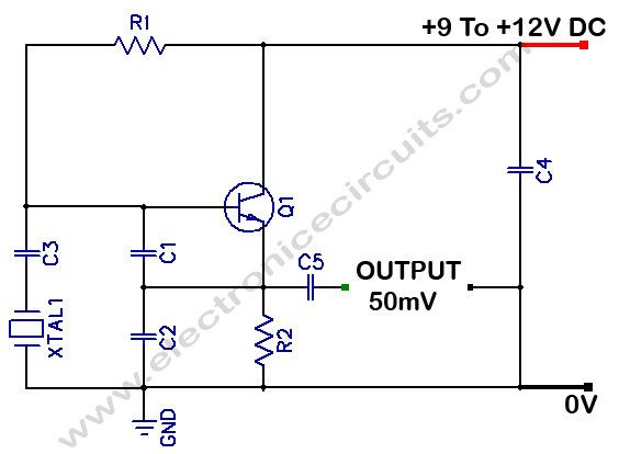 Colpitts 1 To 20 Mhz Crystal Oscillator Electronics Circuit Electronic Engineering Circuit