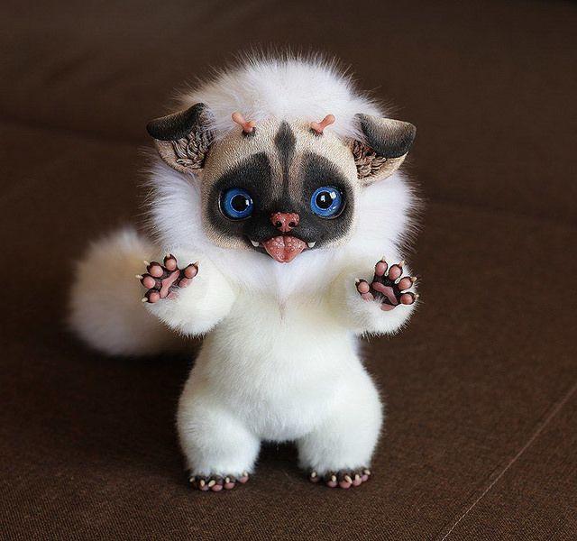 Happy Fu Puppy 2 Cute Fantasy Creatures Fantasy Art Dolls Cute Creatures