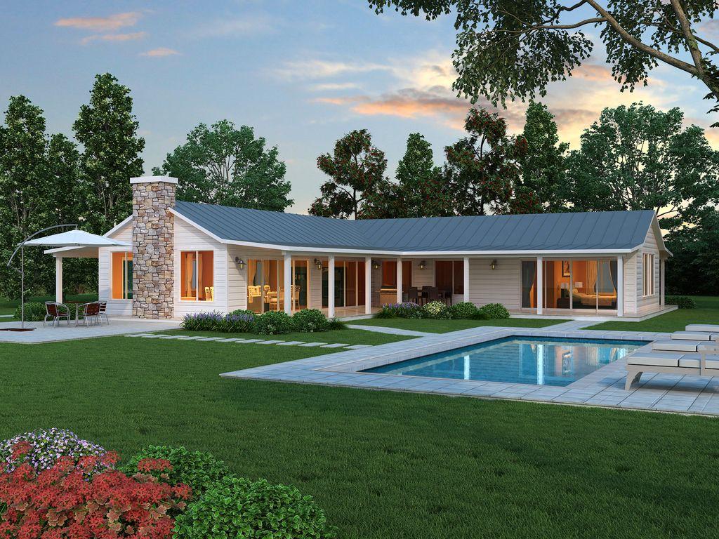 Ranch Style House Plan 2 Beds 2 5 Baths 2507 Sqft Plan 888 5 Modern