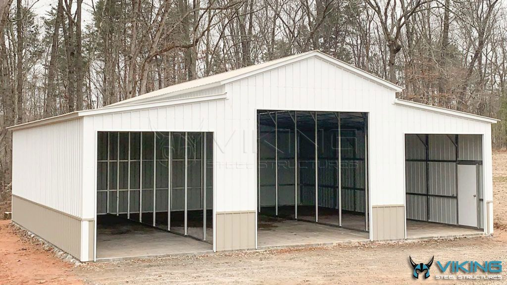 42 X 40 X 14 Carolina Metal Barn In 2020 Metal Barn Barn Steel Buildings