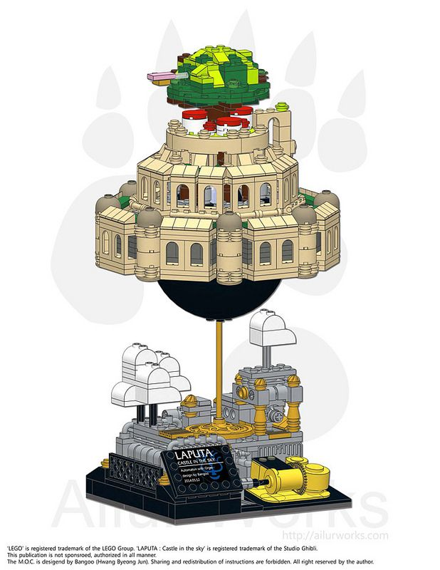 Instructions for Laputa: Castle in the Sky LEGO music box now ...