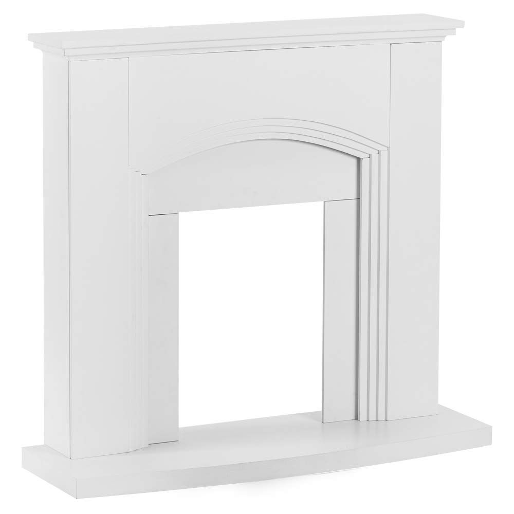 Abbotsford Fireplace Mantel 45 X 41 Elegant White Gloss Finish Walmart Com In 2021 Fireplace Mantel Surrounds Fireplace Surrounds Mantel Surround