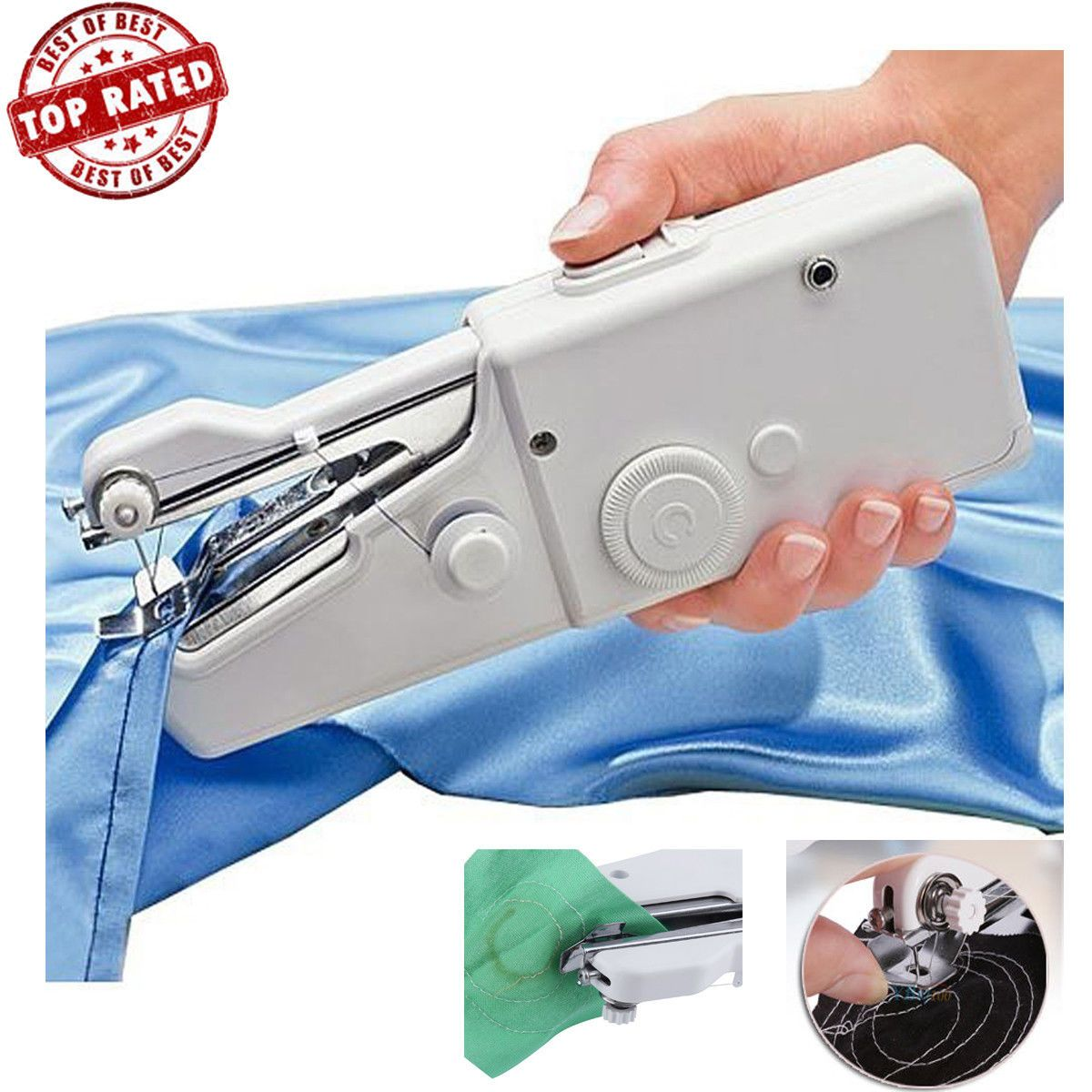 Mini Portable Tailor Stitch Handheld Sewing Machine Home Travel