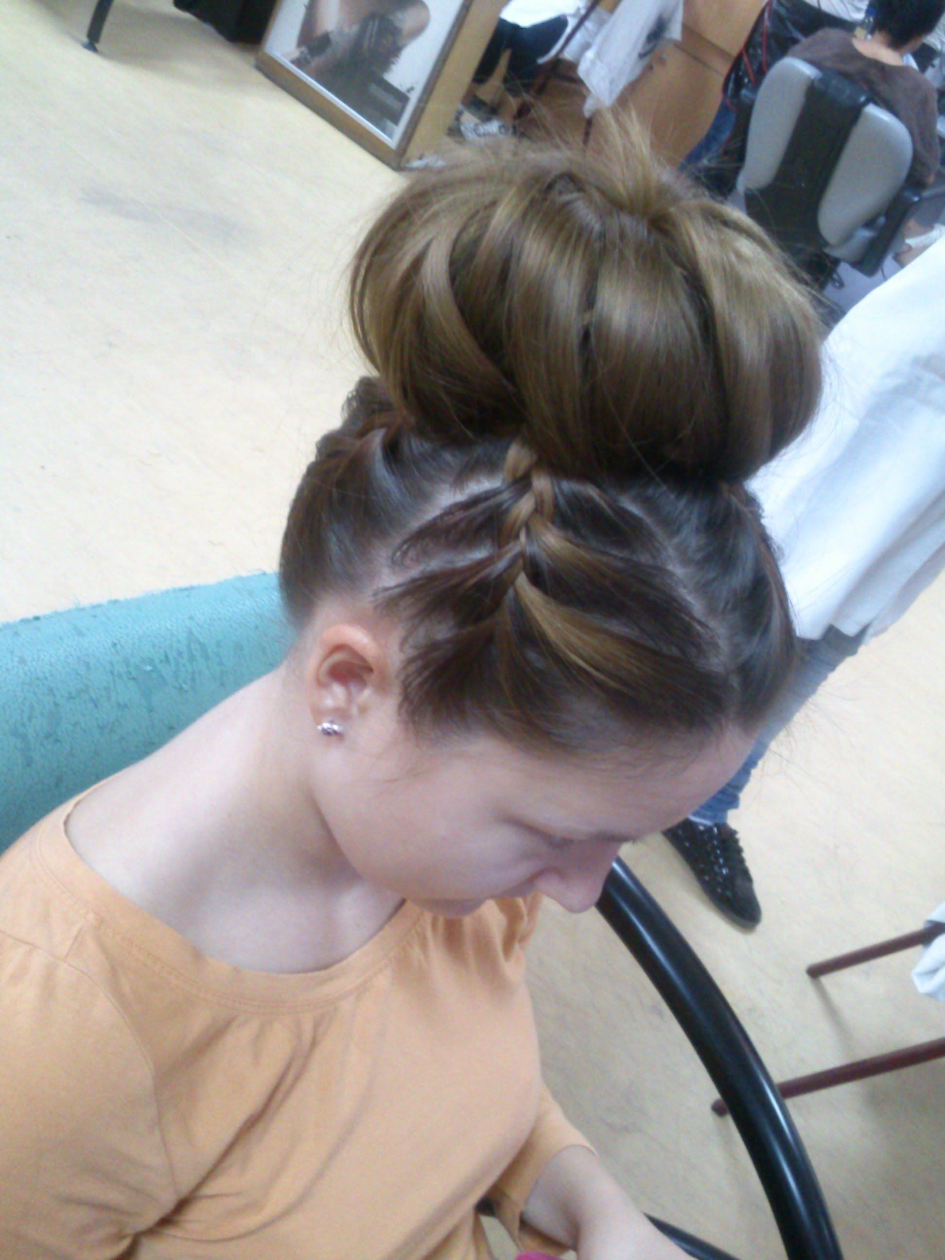 Bun with braids hair pinterest hair style bun hairstyle and