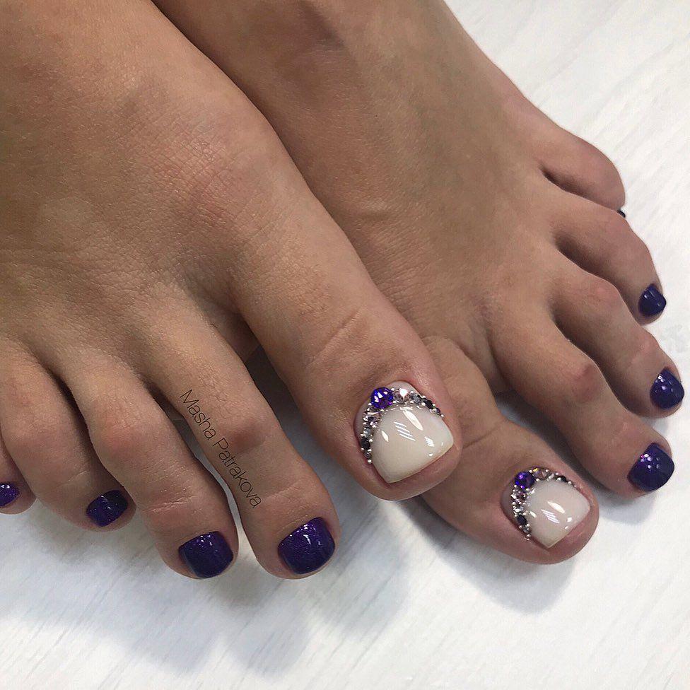 Pedikyur Obuchenie G Kingisepp On Instagram Pogoda Raduet A Eto Znachit Pora Dostavat Otkrytuyu Obuv Moi Devchonk Toe Nail Designs Purple Toe Nails Toe Nails