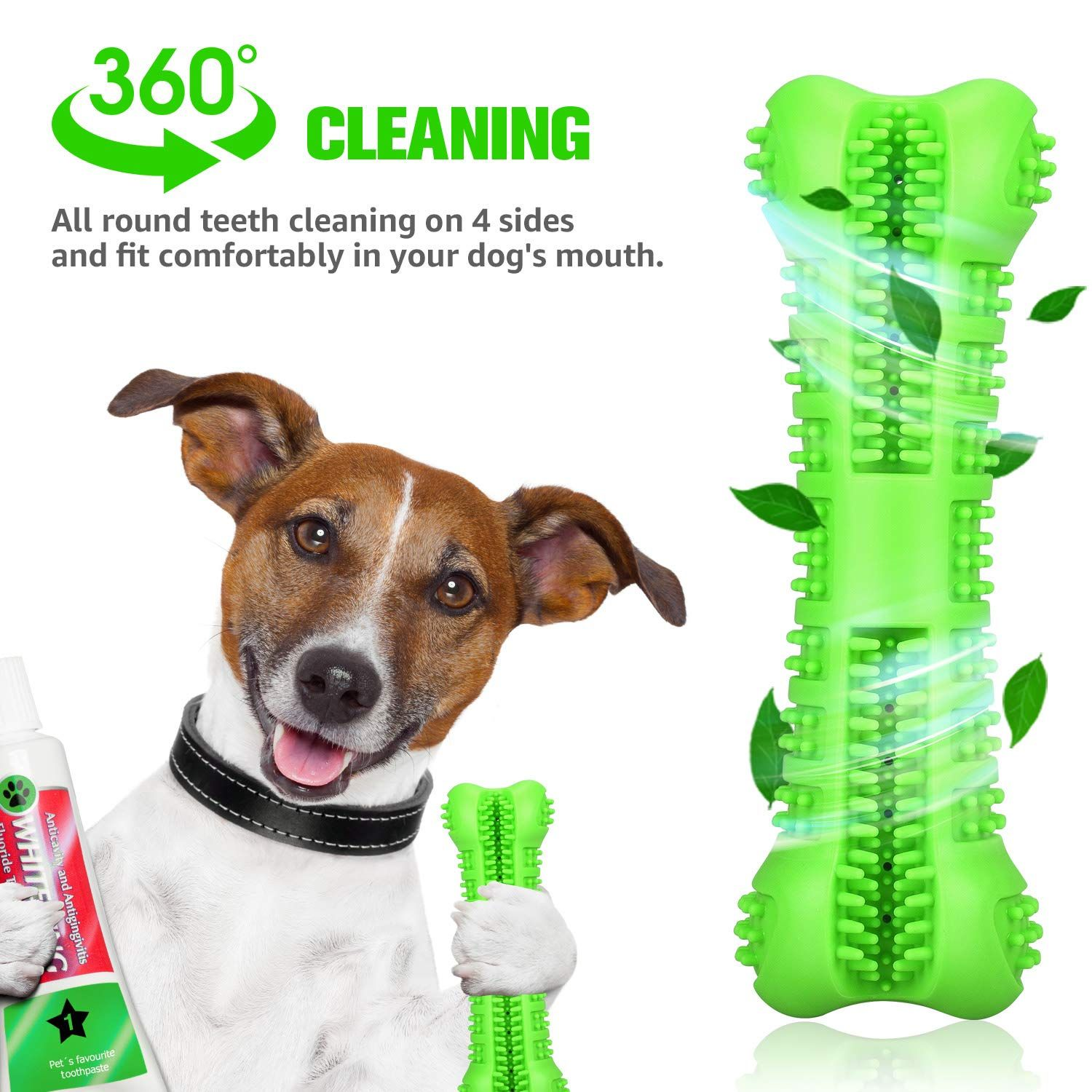 Chlebem Dog Toothbrush Chew Toy Stick With Toothpaste Reservoir