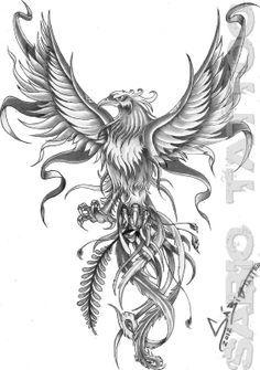 Fenix Tattoo Buscar Con Google Tattoo Tatuaż Tatuaże