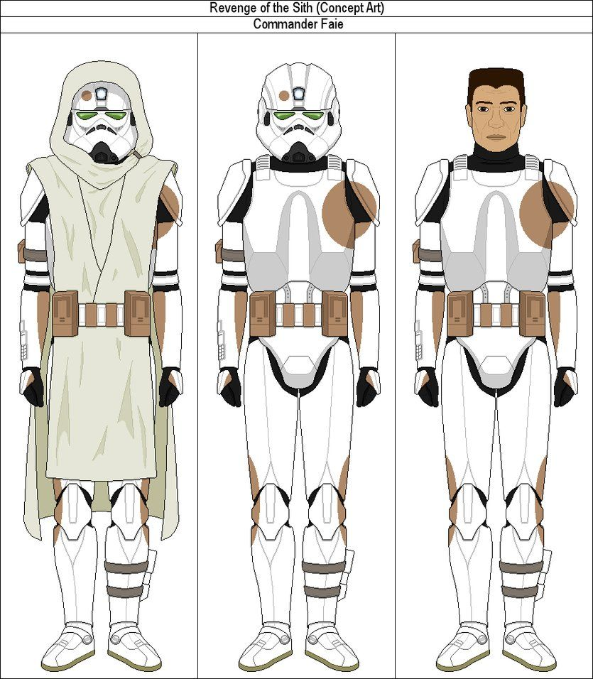 Commander Faie Revenge Of The Sith Concept Art By Marcusstarkiller Clone Trooper Armor Star Wars Clone Wars Star Wars Trooper