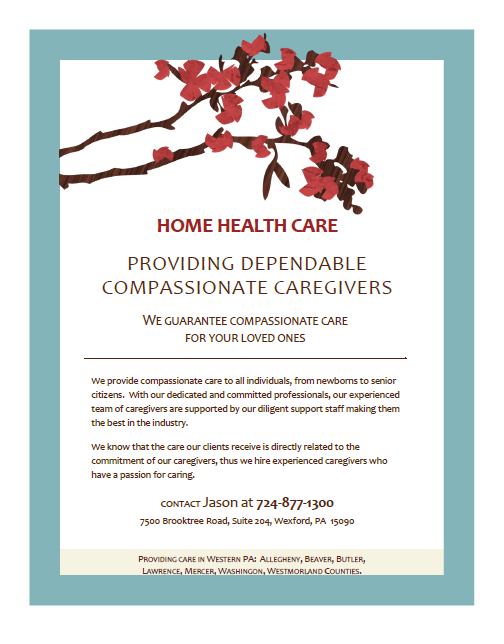 We provide quality in-home care to your loved one.