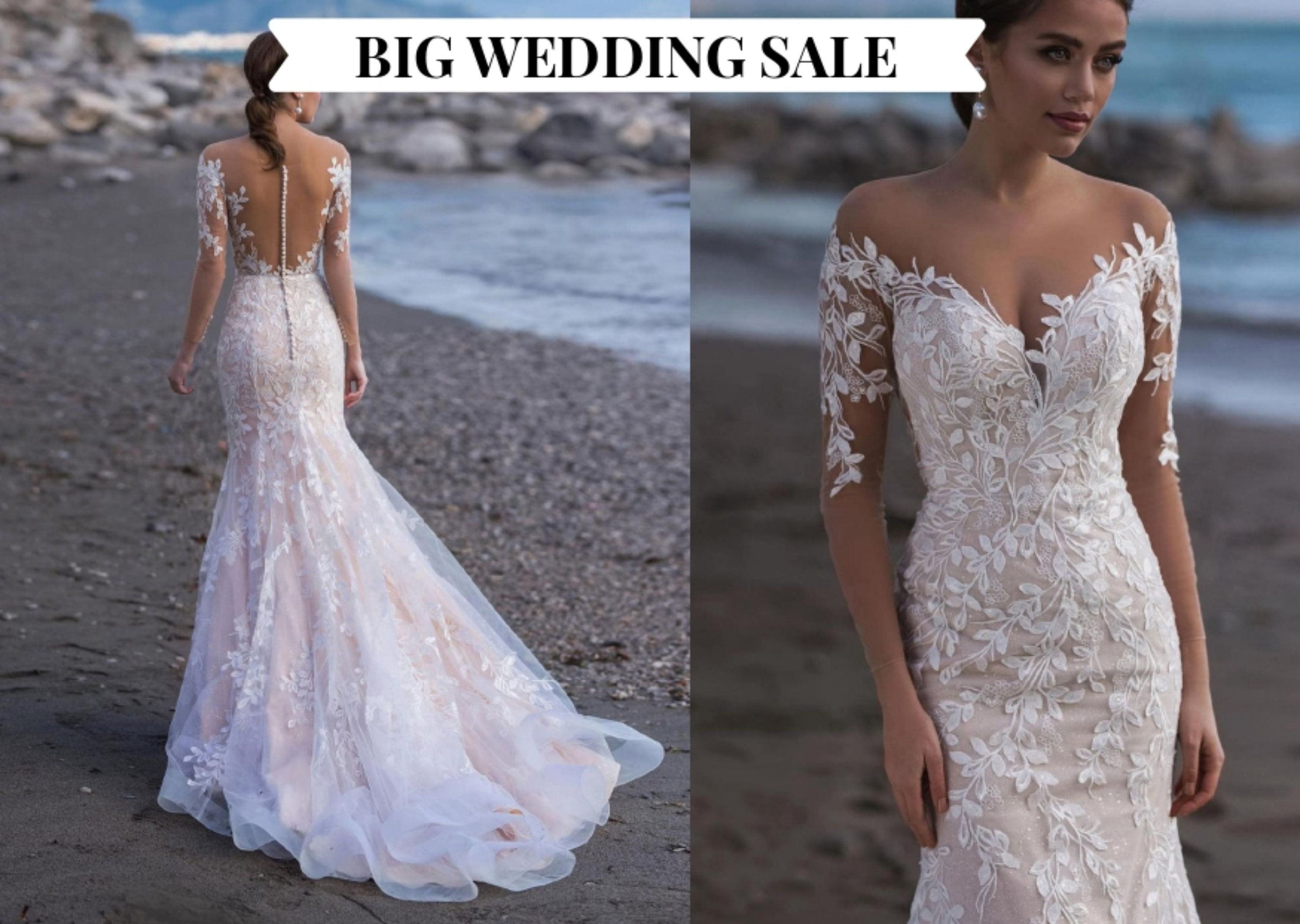Big Sale Collection 2021 Beach Wedding Dress Bridal Gown Etsy In 2020 Wedding Dress Couture Lace Applique Wedding Dress Applique Wedding Dress