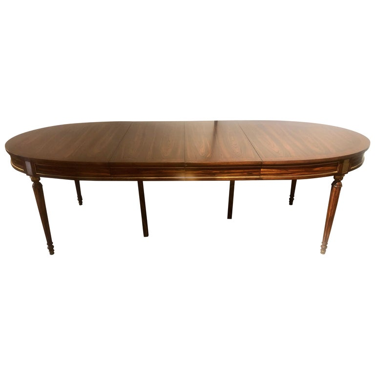 Jansen Louis Xvi Style Rosewood Dining Table Conference Table