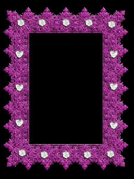 Pink Vintage Border Templates Pink Transparent Frame...