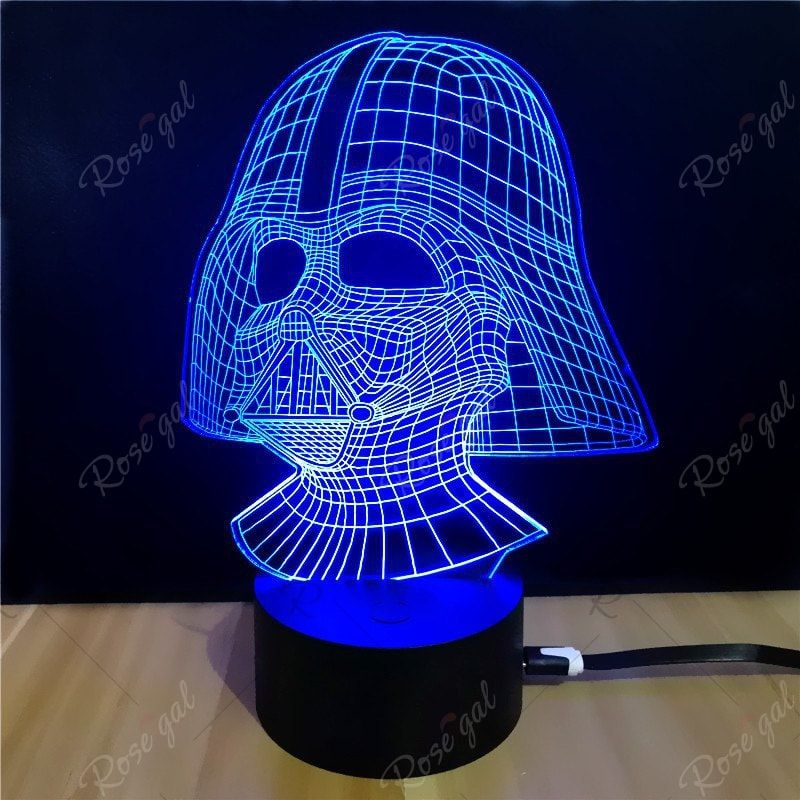 Shining Td054 Star Wars Darth Vader Shape 3d Led Lamp Ad Star Wars Shining Darth Led Affiliate With Images 3d Led Lamp