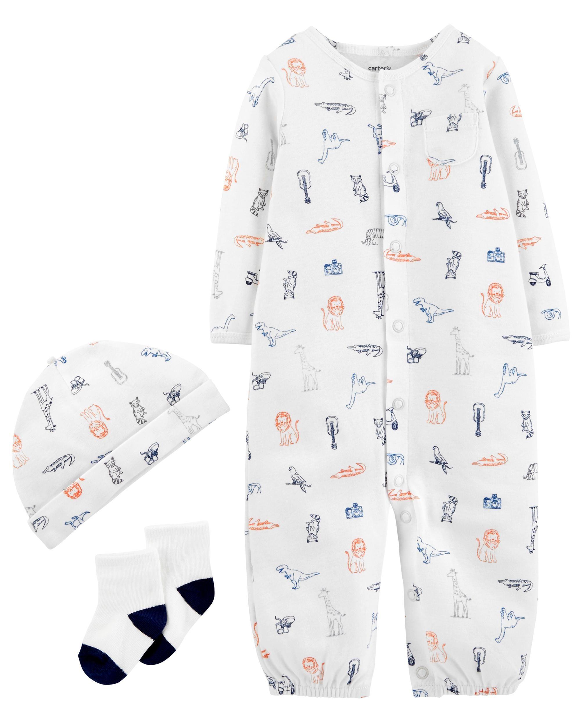9283d965a 3-Piece Babysoft Converter Gown Set