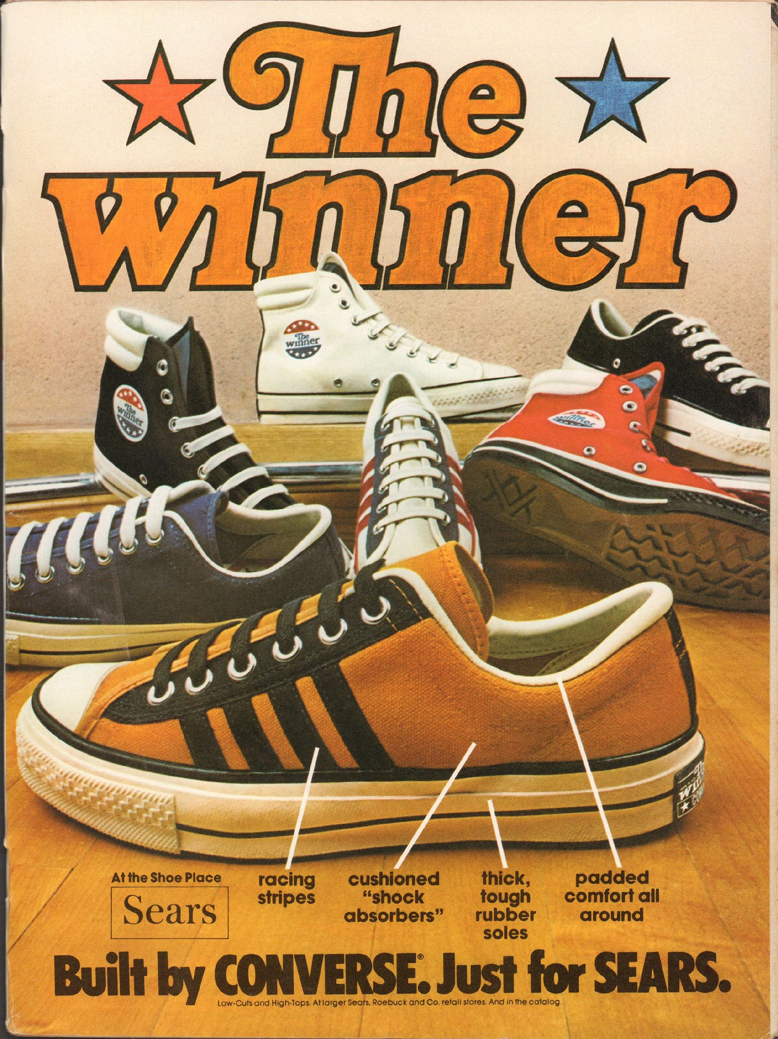 1974 Sears Converse Tennis Shoes Advertisement Motor Trend