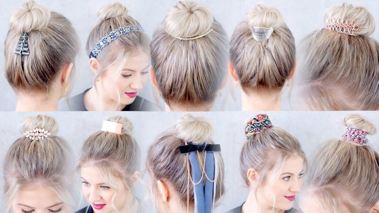 10 new hairstyles accessories for buns and top knots