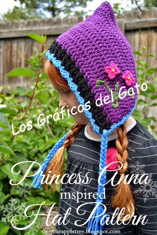 los gráficos del gato: GORRO ANNA FROZEN | crochet | Pinterest ...