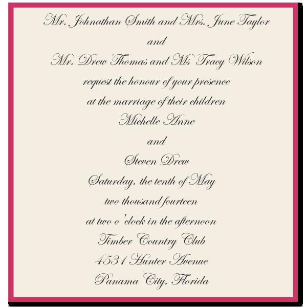 Wedding Invitation Wording Divorced Parents Wedding Newsday Wedding Wording Wedding Invitation Wording Formal Wedding Invitation Samples