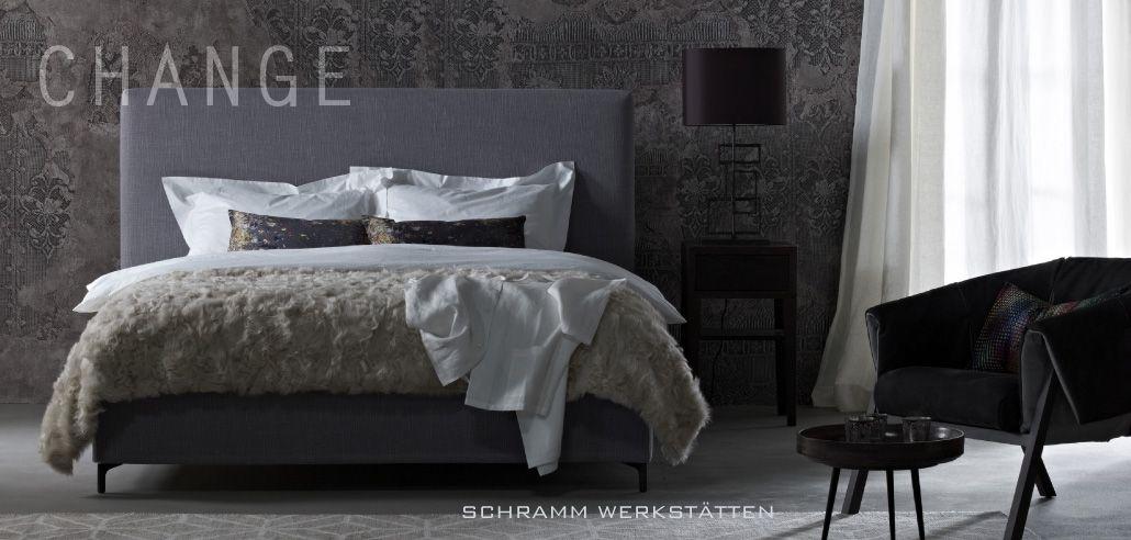 schramm boxspring bed hoofdbord change schramm handmade in germany pinterest. Black Bedroom Furniture Sets. Home Design Ideas
