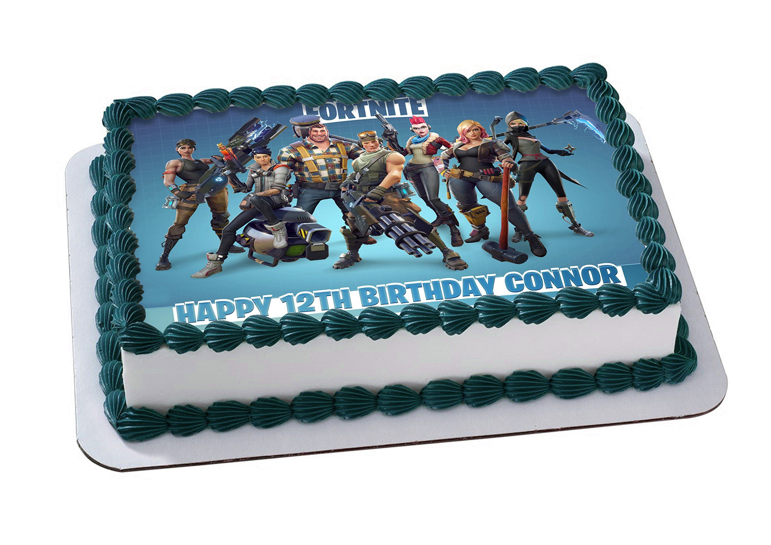 photograph relating to Printable Edible Cake Toppers called Fortnite Edible Impression Cake Topper Custom made Icing Sugar