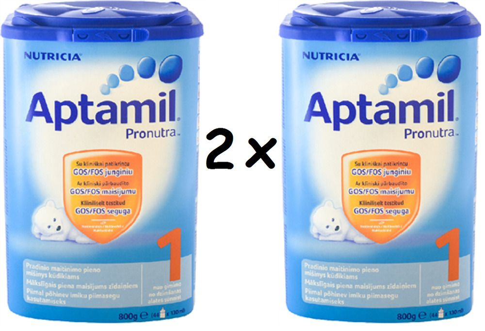 2 x Infant Baby Milk Aptamil 1 With Pronutra Formula each